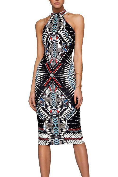 PEACE AND CHAOS ALEXANDRIA HIGH NECK DRESS - Τύπος