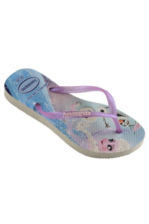 HAVAIANAS SANDALS KIDS SLIM FROZEN - White