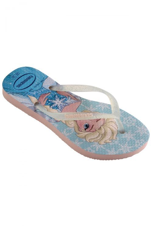 HAVAIANAS SANDALS KIDS SLIM FROZEN - Pink